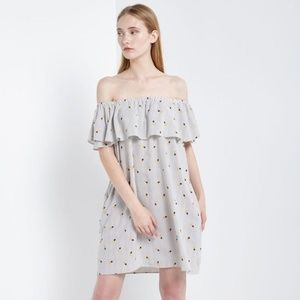 Soprano Pineapple Navy & White Striped Dress